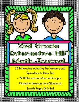 2nd Grade Interactive Math Journal for Numbers and Operati