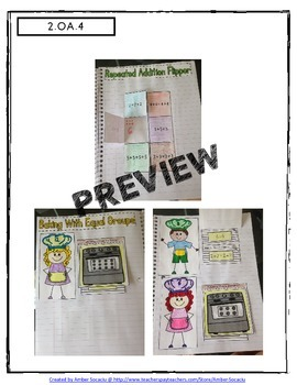 2nd Grade Interactive Math Journal for Operations and Algebraic Thinking