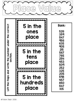 2nd Grade Math Interactive Notebook- Numbers and Operations in Base Ten NBT