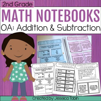 2nd Grade Math Interactive Notebook- Operations and Algebraic Thinking OA