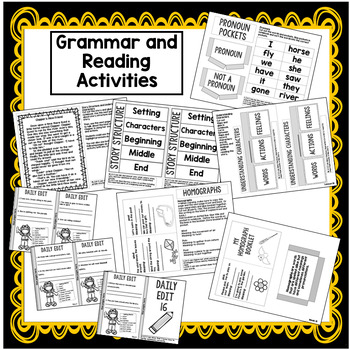 2nd Grade Interactive Notebook Week 16: Story Structure, Homographs, Pronouns
