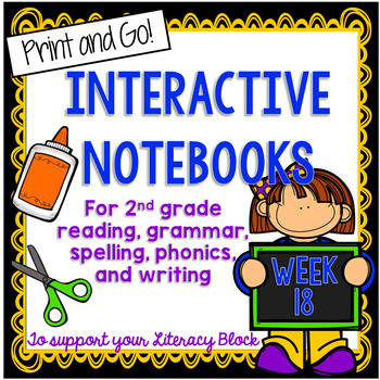 2nd Grade Interactive Notebook Week 18:Understanding Characters,Verb Be,Suffixes