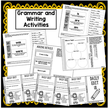2nd Grade Interactive Notebook Week 18:Understanding Characters,Verb Be,Suffixes