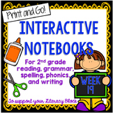 2nd Grade Interactive Notebook Week 19: Questioning, Shades of Meaning, ar words