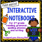 2nd Grade Interactive Notebook Week 20: Compare/Contrast, ore, or words, Commas
