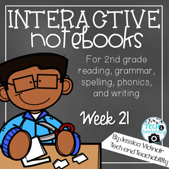 2nd Grade Interactive Notebook Week 21: Main Idea; er, ir, ur words; Adjectives