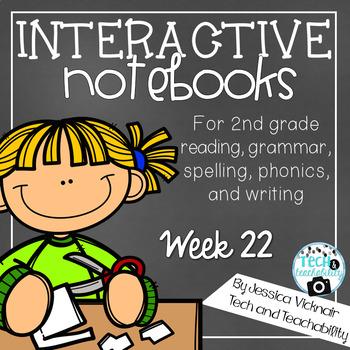 Characters, Homophones, Using Adjectives Interactive Notebook