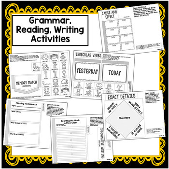 2nd Grade Interactive Notebook Week 24: Cause and Effect, Prefixes, Antonyms