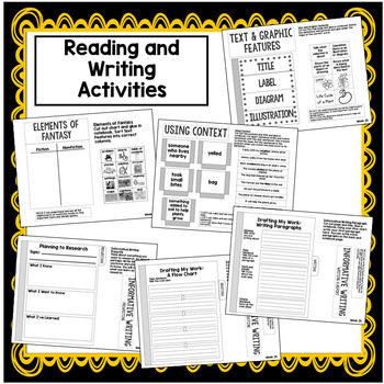 2nd Grade Interactive Notebook Week 25: Text Features,Using Context, au/aw words