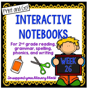 2nd Grade Interactive Notebook Week 26:oo, ew, ue Words,Story Structure,Opinions