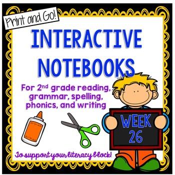2nd Grade Interactive Notebook Week 26:oo, ew, ue Words,St