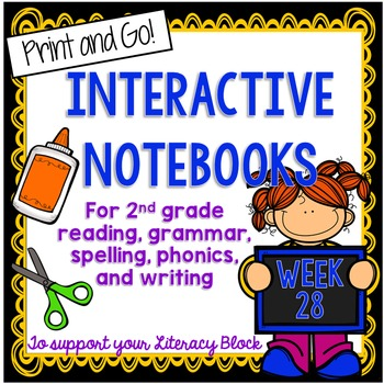2nd Grade Interactive Notebook Week 28: Sequencing,OW OU Words, Possessive Nouns