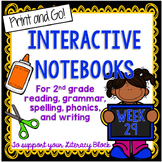 2nd Grade Interactive Notebook Week 29: Long A and I, Characters, Antonyms
