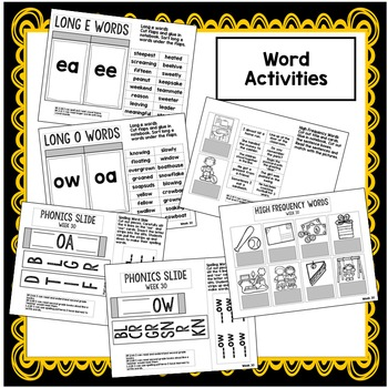 2nd Grade Interactive Notebook: Long O, E, Compare, Contrast, Root Words