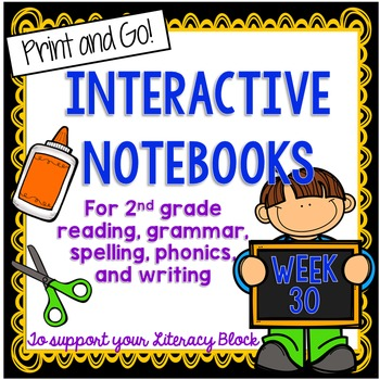 2nd Grade Interactive Notebook Week 30: Long O, E, Compare