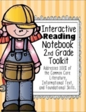 2nd Grade Interactive Reading Notebook 100% Common Core Aligned