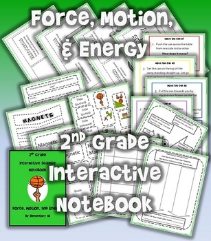 2nd Grade Interactive Science Notebook: Force, Motion, & Energy  (TEKS)