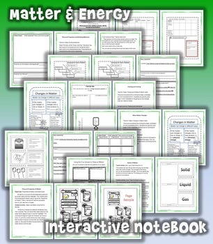 2nd Grade Interactive Science Notebook: Matter & Energy (TEKS)