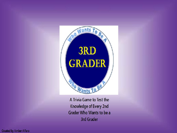 2nd Grade Interactive Trivia Game End of Year ~ Power Point ~ Math, ELA, FUN
