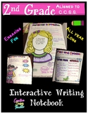 All Year Long 2nd Grade Writing Interactive Notebook