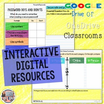 2nd Grade Internet Safety Digital Interactive Notebook