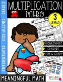 2nd Grade Intro to Multiplication Unit |CCSS Differentiated Worksheets & Centers