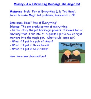 2nd Grade Investigations Unit 1- week 5