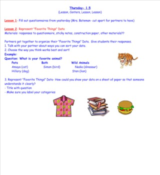 2nd Grade Investigations Unit 4- Week 2