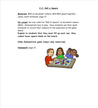 2nd Grade Investigations Unit 6- Week 1