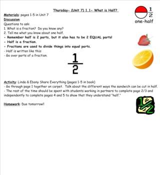 2nd Grade Investigations- Unit 7