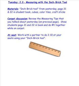 2nd Grade Investigations Unit 9- Week 1
