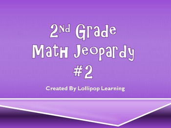 2nd Grade Jeopardy Math #2