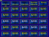 2nd Grade Jeopardy Math Review (Multiplication, Division,