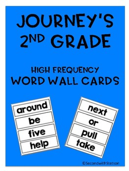2nd Grade Journey's High Frequency Word Wall Cards