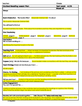 """2nd Grade Journey's Lesson 14, Guided Reading Plan """"Alexan"""