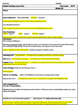 """2nd Grade Journey's Lesson 15, Guided Reading Plan """"Firedog"""""""