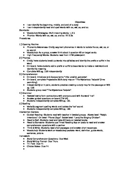 2nd Grade Journeys (2011 ed.) Daily Lesson Plans- Unit 6