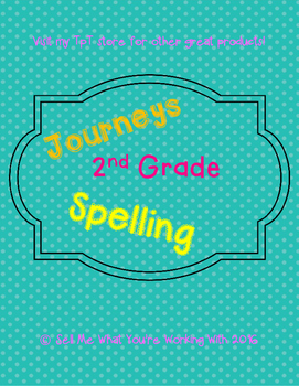 2nd Grade Journeys 2014 Spelling Lists (Lessons 1-30)