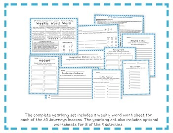 2nd Grade Journeys 2014 Spelling Vocabulary Center Activity Sample of Bundle