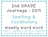 2nd Grade Journeys 2014 Spelling Vocabulary Center Activity Sample of Bundle