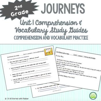 2nd Grade Journeys 2014, Unit 1, Common Core Comprehension