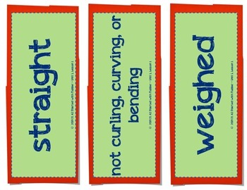 2nd Grade Journeys, Unit 1 Vocabulary Card Bundle for Lessons 1-5