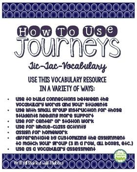 2nd Grade Journeys, Unit 4 Tic-Tac-Vocabulary