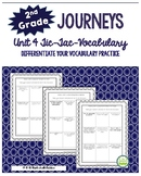 2nd Grade Journeys, Unit 4 Tic-Tac-Vocabulary