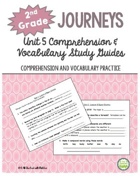 2nd Grade Journeys, Unit 5 Common Core Comprehension & Vocabulary