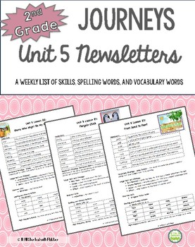 2nd Grade Journeys, Unit 5 Weekly Newsletters