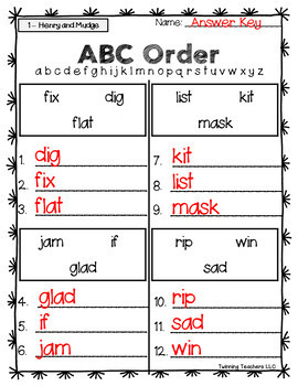 2nd Grade Journeys Spelling - ABC Order LESSONS 1-30