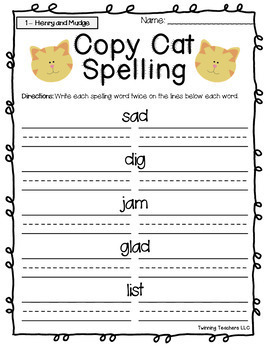 2nd Grade Journeys Spelling - Copy Cat LESSONS 1-30