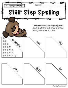 2nd Grade Journeys Spelling - Stair Step Spelling LESSONS 1-30