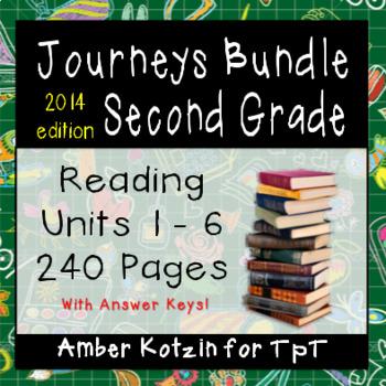 2nd Grade Journeys Bundle: Units 1 - 6 Supplemental Activities